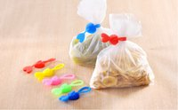 Wholesale 200pcs Multipurpose Silicone Food Bag Clip Snacks Sealing Clips Kitchen Accessories USB Line Earphone Charger Cable Winder Bag Organizer