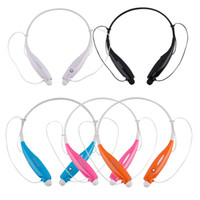 Wholesale Stereo Bluetooth Headset Wireless Headphone Neckband Style Earphones for iPhone for Samsung Bluetooth Cellphone