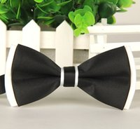 Wholesale fashion men bow tie polyester silk butterfly adjustable wedding bowtie bow ties for men colors cm