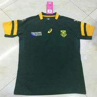 africa countries - Rugby Union Rugby World Cup South Africa Country new jersey High temperature heat transfer printing jersey Rugby Shirts