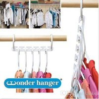 Wholesale 5 hook hanger organizer space saver wonder travel closet holder storage racks Brand New Good Quality