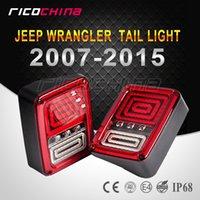 Wholesale 2X Plug and Play LED Taillight Assembly Reverse Brake Tail Lights With European Standard Plugs for Jeep Wrangler