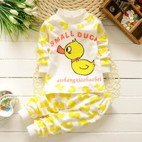 Wholesale 2016 Spring and Autumn Pure Cotton Baby Boys and Girls Underwear Set Children s Under shirts Leggings