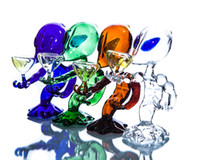 alien yellow - Top Quality Alien Glass Water Pipes Brown Green Blue Clear Black Spiderman High Quality Thick Glass Smoking Water Pipes for Smoking Hot Sale