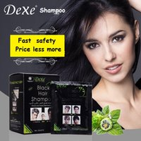 Wholesale Star Famous Brand Hair Fast Black Shampoo Hair Care Once wash Once Black Portable Package