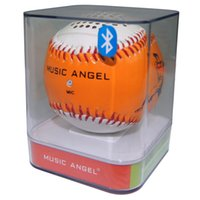 baseball audio - Portable Baseball Bluetooth Speakers Music Angel Subwoofer with Mic Jack Support TF Card for Computers