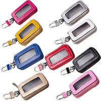 Wholesale Universal Vehicle Smart Key Case Remote Fob Case Leather Car Key Holder Keychain Ring Case Bag for Men Women
