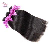 Unprocessed Virgin Brazilian Cheveux humains tissés Straight Remy Hair Extensions 3Pcs 8-30 pouces 100% brésilien cheveux humains Formes Naturelles