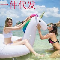Wholesale 275cm Inflatable swim pool folating bouncers inflatable ride giant inflatable mattress animal water fun toy