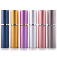 Wholesale New ml Refillable Portable Mini perfume bottle Traveler Aluminum Spray Atomizer Empty Parfum Bottle as a Gift
