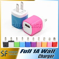 Cheap Wall charger Travel Adapter For Iphone 6S Plus 5V 1A Colorful Home Plug USB Charger For Samsung S6 S6 EDGE Note 5 USA Version EU Version DHL
