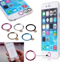 Wholesale Hot Metal Home Button Ring Circle Cover Sticker Skin For Apple iphone S Plus