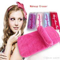 Wholesale DHL New Flannel Makeup Eraser Women Ladies Men Makeup Remover Towels Travel Water Polyster Cleaning Of Eyeliner Mascara HD Makeup ZJ T02