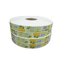 Wholesale Custom adhesive labels stickers on rolls Fasson Paper material High quality printing