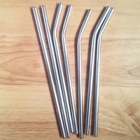 Wholesale Stainless Steel Straw Steel Drinking Straws quot g Reusable ECO Metal Drinking Straw Bar Drinks Party Stag