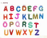 alphabet pieces - 2600pcs Children Kids English Alphabet Refrigerator Magnets Big Anti Rust Thickened Baby Wooden Fridge Magnet Magnetic Sticker