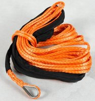 atv tow ropes - mm x m Synthetic Winch Cable Rope for ATV UTV orange towing ropes free express