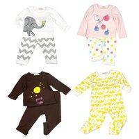 Wholesale Cotton Children Girls Pajamas suits Kids Boy Girls Clothing Sets Soft Baby Long Sleeve Cartoon Nightclothes Toddlers Sleepwear