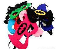 Wholesale The avengers Superhero mask Cosplay Captain America Superman Batman Spiderman Hulk Princess TMNT children adult themed Party Costume Masks