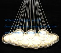 Wholesale Modern Chandelier lights Glass Ball Pendant Light G4 Blub Ceiling Lamp Hotel Decor Lighting V V
