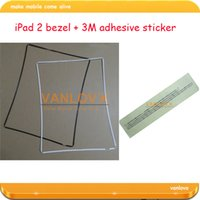 Wholesale 20set touch screen bezel support frame with adhesive sticker for iPad