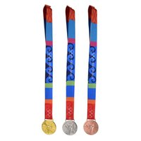 athens olympics - 2004 Athens Olympic Gold Silver Bronze Medals Ribbons Complete Set
