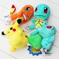 action movies video - Poke plush Pikachu Squirtle Charmander Bulbasaur Plush dolls poke Stuffed animals toys poket Action Toy cm KKA726