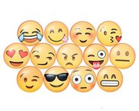 Wholesale Newest QQ Expression Emoji Fridge Magnet Cute Cartoon Fashion Crystal Glass Fridge Magnets Funny Refrigerator Toy