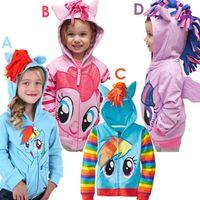Wholesale New Arrival Cute Unisex Kids Coats Toddle Hoodie My Little Pony Wing Sweatshirts Long Sleeve Zipper Jackets Cotton Hot