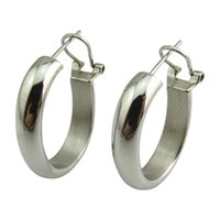 best shopping tv - Hot Sale TV Shopping Women Hoops Stainless Steel Hollow Hoop Huggie High Polish Earring Best Gift