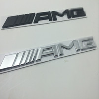 amg decals - 3d metal Chrome Car Logo D Metal AMG Badge Sticker For Mercedes Ben Trunk Rear Decal SL SLK Class CLK