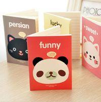 Wholesale New kawaii stationery cute cartoons animals head cover mini notebook notepad diary pocket exercise book Gift K6541