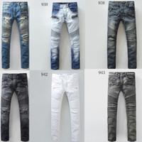 skinny jeans for men - 2016 New Arrival Famous Brand Clothes Fashion Men s Balmain Jeans Pants Men Casual Jeans white For Men Balmain Biker Jeans Male Robin Jean