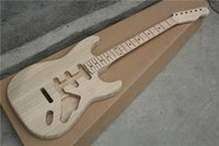 ash wood finish - Semi finished Electric Guitar Body made from Ash wood and the Neck made from Bird Eye Maple