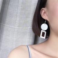 aged tin - DIY Handmade Vintage Age Geometric Shell Charm Earrings European Charms Nature Shell Earrings For Women PC