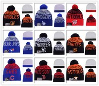 baltimore sun - 2016 New Arrival Baltimore Orioles Beanie Hats Dogers Cubs Red Sox Beanies For Men and Women Knitted Skullies Warm Winter Pom pom Caps