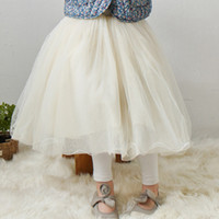 Wholesale Spring summer girls lace tulle skirts Children baby kids lace princess long skirts fashion all match skirt children clothing A8368