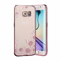 Покрытие Секретный сад Мобильный телефон Чехлы для S7 S7 EDGE цветок бабочка Алмазный Мягкий ТПУ Новейший мобильный телефон Case