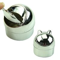Wholesale Stainless Steel Portable Cigarette Polished Ashtray Ash Container Y102