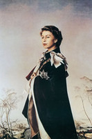 abstract art museums - Genuine Handpainted Nice Noble Portrait Art oil Painting On Canvas Queen Elizabeth II standing in landscape Museum Quality