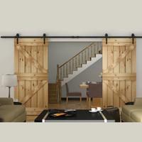 Wholesale Home DIY Steel Sliding Barn Door Hardware Rustic Wood Door Closet Hardware ft ft ft ft