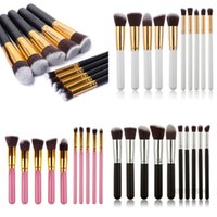 Wholesale 10 pieces Cosmetic Makeup Brushes set make up tools kit Eyelash foundation Eyeshadow Eyeliner Lip Brush Tool set