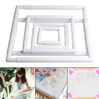 aluminum hoops - PC Embroidery Plastic Frame Sewing Tools Handhold Square Shape Hoop Cross Stitch Craft DIY Tool