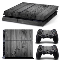 ps4 console - Gray Wood Grain PS4 Games Skin Decals Vinyl Wrap Stickers Protector For PlayStation Console Controller Skins for Free