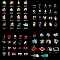 Wholesale New Mix Fashion Style Nail Art D Alloy Metal Crystal Decorations Diamond Cellphone Rhinestones Glitter Charms Jewelry series