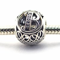 animal foods - 2016 Vintage B Clear CZ Sterling Silver Bead Fit Pandora Bracelet Fashion Jewelry DIY Charm Brand