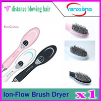 Wholesale 1pcs ion flow brush dryer ionic generator Steam Hair comb YX GF