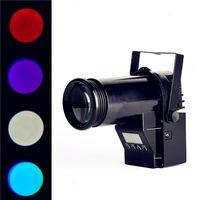 Wholesale 10W Pin Spot Beam LED Stage Lighting DMX RGBW IN1 White Black Case DJ Disco Show Lighting Voice Control