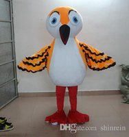 Mascot Costumes baby party activities - Ohlees Actual Picture Christmas orange little baby bird Mascot Costumes Character For Halloween Party Activity Fancy Christmas Adult Size
