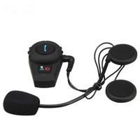 Wholesale FDC VB Bluetooth Interphone Motorcycle Helmet Headset Communicator Speaker System BT Motorbike Intercom Capacete M